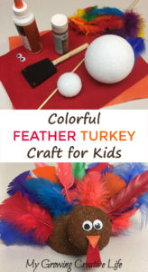 feather turkey craft for kids colorful and easy to make - Pictures Of Turkeys For Kids 2