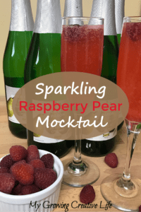 Sparkling Raspberry Pear Mocktail