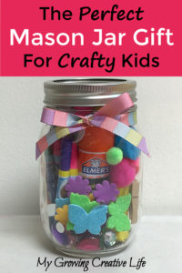 The Perfect Mason Jar Gift For Crafty Kids