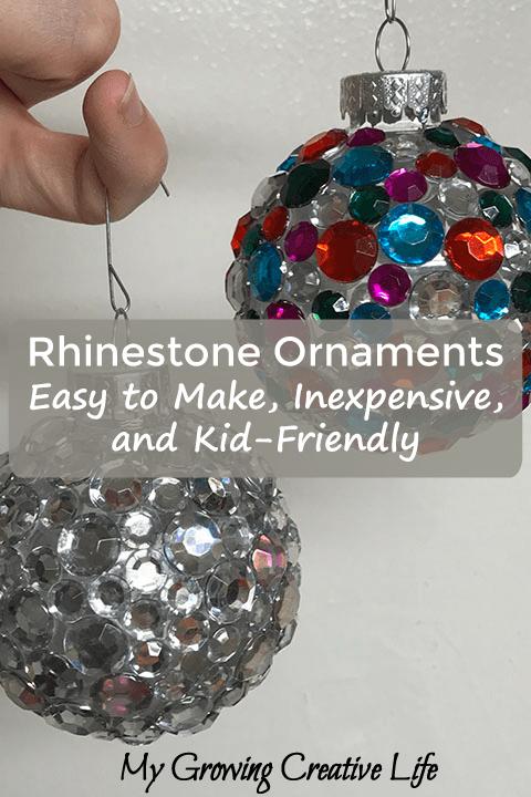 Rhinestone Ornaments:  Easy to Make, Inexpensive, and Kid-Friendly