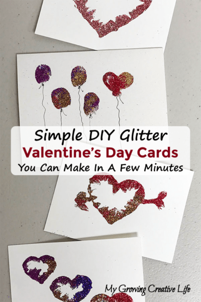 Simple DIY Glitter Valentine's Day Cards
