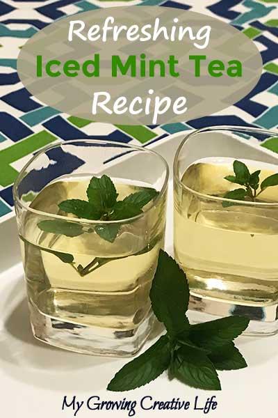 Refreshing Iced Mint Tea