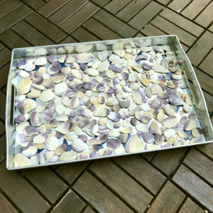 How To Create A Beautiful Serving Tray From Beach Shells