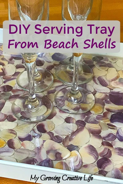Create A Beautiful Serving Tray From Beach Shells