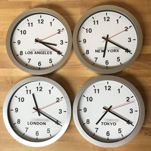 Create inexpensive world clock wall decor great for home or office diy world clock wall gumiabroncs Image collections