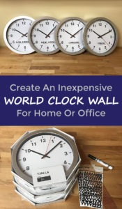 Create Inexpensive World Clock Wall Decor Great For Home Or Office