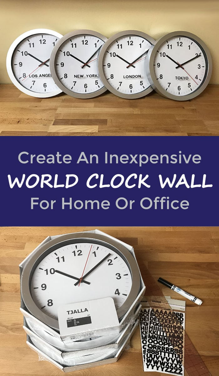 Create inexpensive world clock wall decor great for home or create inexpensive world clock wall decor great for home or office my growing creative life amipublicfo Choice Image
