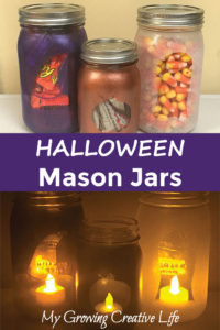 Spooky Silhouette Halloween Mason Jar Craft